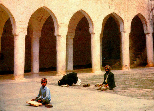 die Moschee war nur spärlich besucht