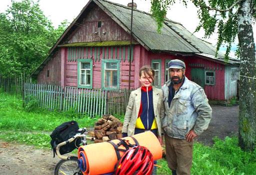 Boris ein russischer Kleinbauer mit seiner Tochter Melda