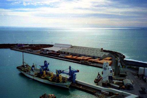 Wool of New Zealnd hatte in Napier einen eigenen Hafen