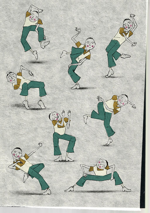 Dancing; Moves; Dance; Steps; Figure; Tobias; Willa; Illustration; Coronavirus; Quarantine; Stretching; Body; Funny; Drawing; Paper; Basel; Stay Safe; Jazz;