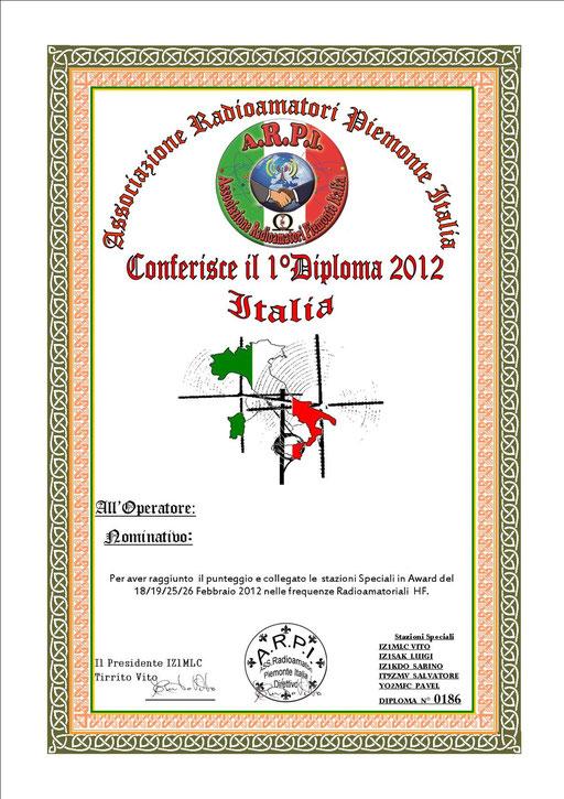 1° Diploma A.R.P.I.