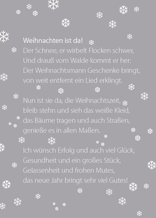 Weihnachtskarte von Marketingberatung Susanne Burzel