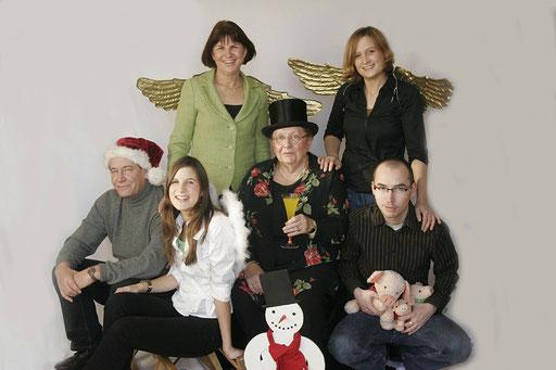 ganze Familie als Engel