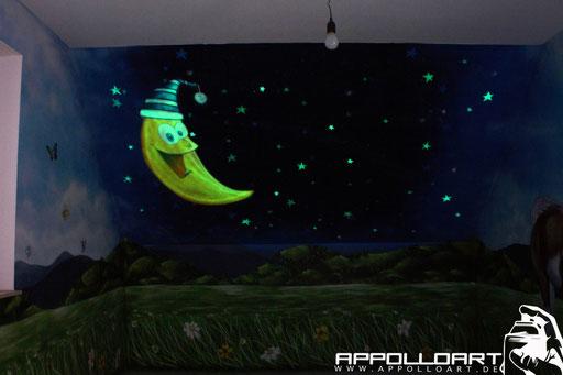 Wandmalerei mir Airbrush und Graffiti