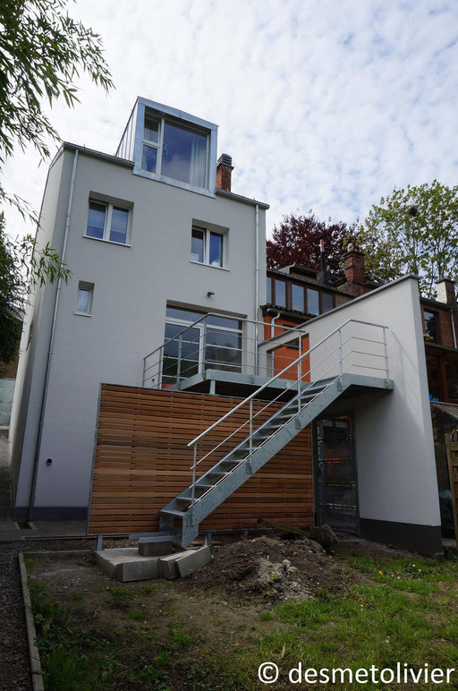 Terrasse acier bois