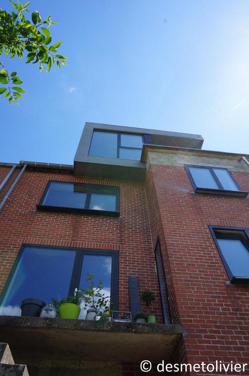 Lucarne zinc - box on the roof - Chantier  Architecture Namur