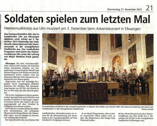 Schwäbische Post 21.11.2013