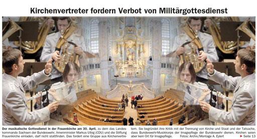 Dresdner Neueste Nachrichten, 4.4.2014, Titelseite