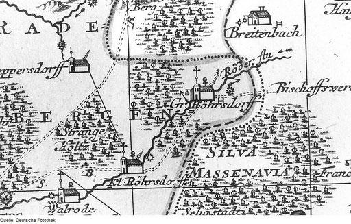 Bild: Teichler Seeligstadt Sachsen Älteste Karte der Massenei