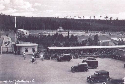 Bild: Teichler Seeligstadt Sachsen Postkarte Masseneibad 1935
