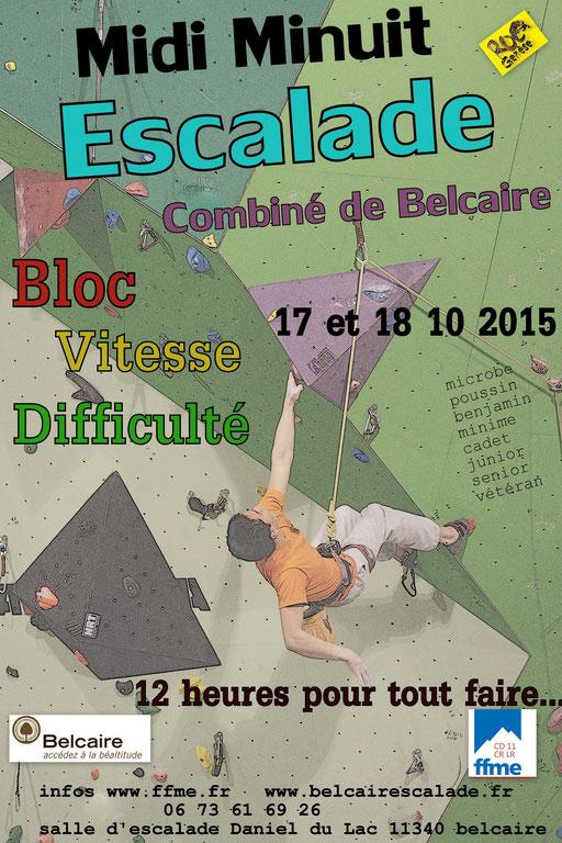 Midi Minuit - contest escalade à Belcaire