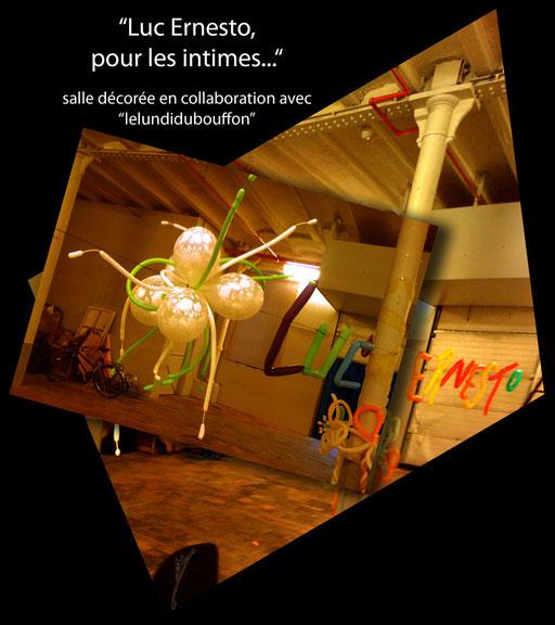 """sculpture ballon déco-twisting """"Luc Ernesto, pour les intimes..."""" baptême"""