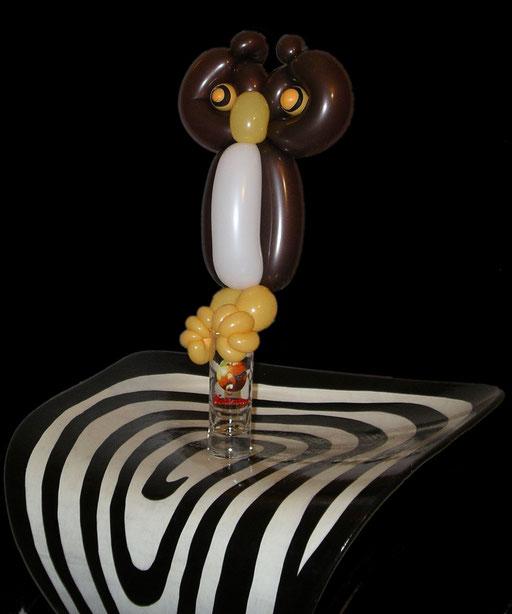"""sculpture de ballons """"hibou"""""""