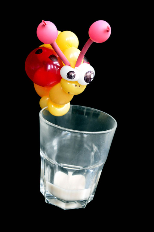 """sculpture de ballons """"coccinelle déco verre"""""""