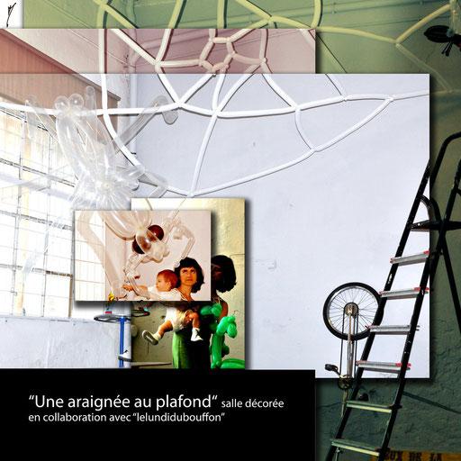 """sculpture ballon déco-twisting """"une araignée au plafond"""" baptême"""
