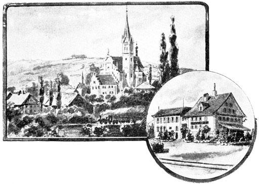 Hochdorf mit Hotel Kreuz und Theaterbau