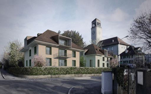 Visualisierung Studienaufträge Zwyssigstrasse, Bern