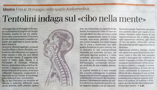 Gazzetta di Parma - 19 maggio 2012 - di Stefania Provinciali