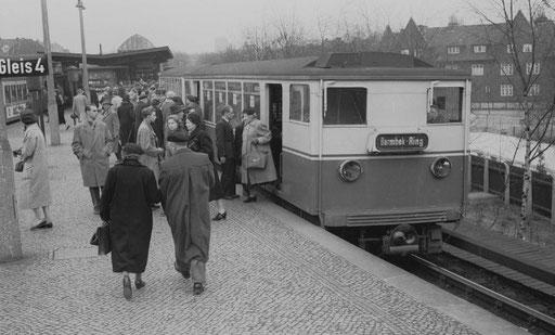 Bahnsteig Kellinghusenstraße 1958
