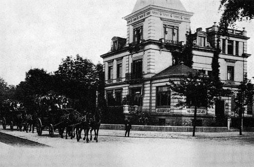 Villa Reimers, Bellevue 34, Ecke Scheffelstraße, um 1893