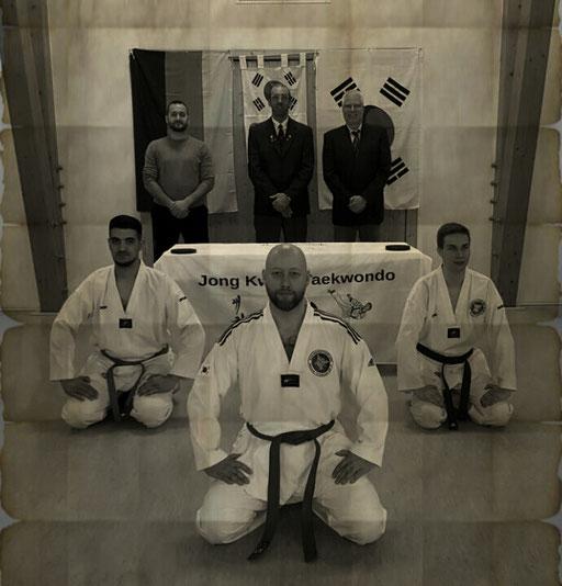 Erol Alp mit Prüfer Sabumnim Remo Nascimben ( Gründer der Jong Kwan Taekwondo Schule)