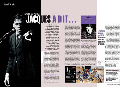 article de presse La Petite, Jacques Brel pour un instant seulement