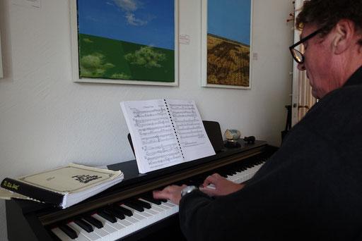 Klaus Schneider am Piano