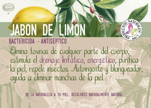 jabón natural de limón-cosmética natural ecológica-decoloresnatur