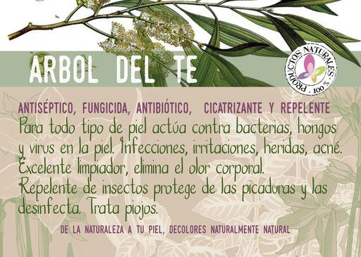 jabón natural de árbol del té-cosmética natural ecológica