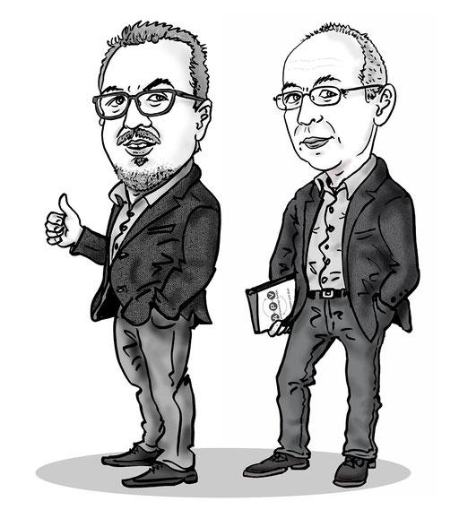 Karikatur nach Foto für hompage