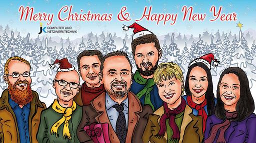 Karikatur Weihnachten Kalender