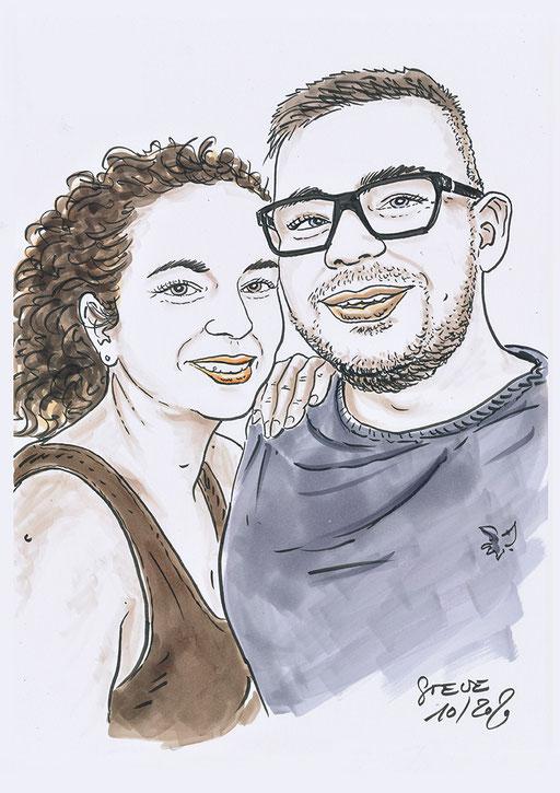 Karikatur Porträt nach Foto