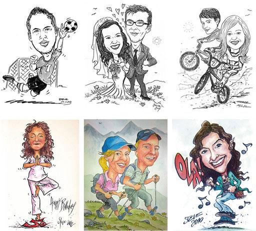 Karikatur nach Foto