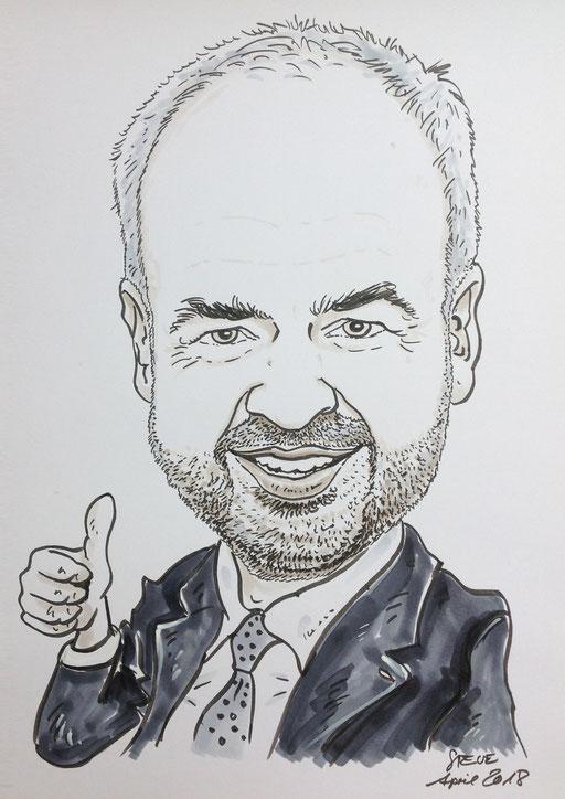 Karikatur nach Fotovorlage