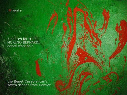 pintura, acrílico técnica mixta detalle de Moreno Bernardi