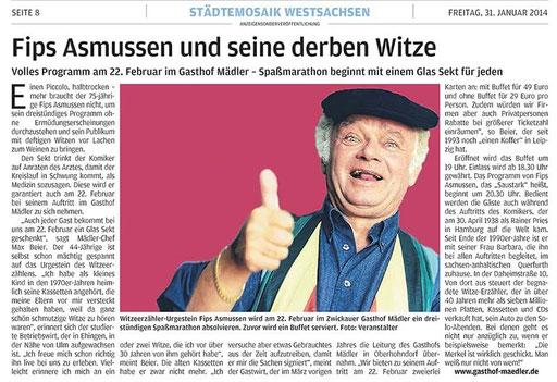 Fips Asmussen Gasthof Hotel Pension Zwickau Veranstaltungen Hochzeit Busreisen