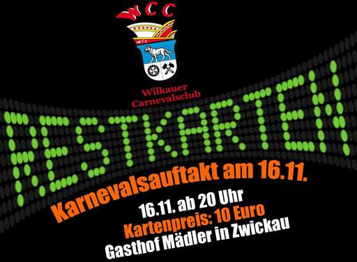 Karneval im Gasthof Mädler Zwickau Veranstaltung Feier WCC