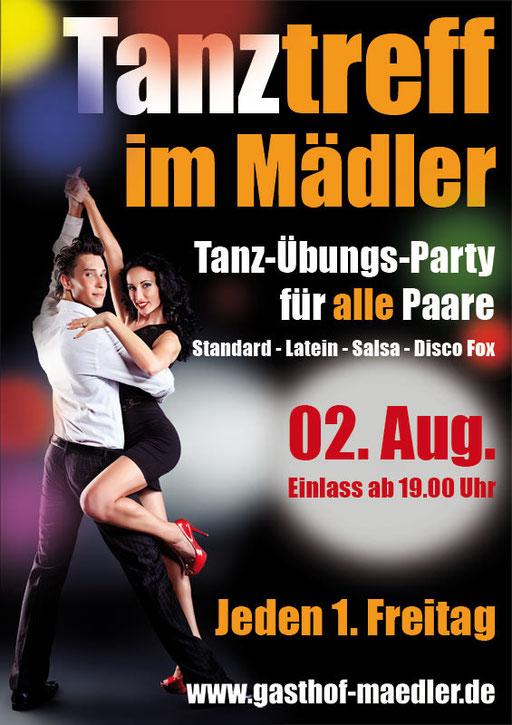 Tanzparty im Gasthof Mädler Zwickau Standardtanz Salsa Disco Fox