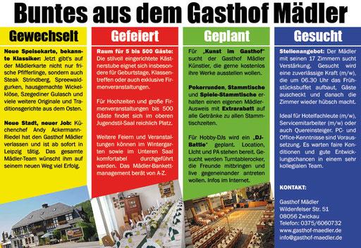 Gasthof Mädler sucht Mitarbeiter für das Hotel