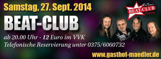 Livetanz Gasthof Mädler Beat-Club Leipzig Max Beier DAS KREAKTIV