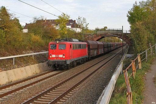 RBH  140 772 mit Kohleleerzug unterwegs ins Ruhrgebiet , hier in Saarbrücken-Burbach mit GM 98808 (ex.62446) Fürstenhausen - Duisburg Ruhrort Hafen , 17.10.12