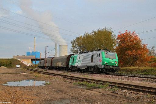 """SNCF FRET BB37003 mit """"Wasserzug"""" DGS 95407 Duisburg-Rheinhausen - Forbach/F am herbslichen Morgen bei Bous, 10.10.2012"""