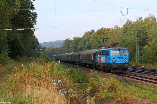 """Sonderzug zur zur Cannstatter Wasen """"Gaudi-Express"""" mit Centralbahn 1042 520 als DPF 349 Trier Hbf - Stuttgart Hbf am 06.10.2012 in St.Ingbert"""