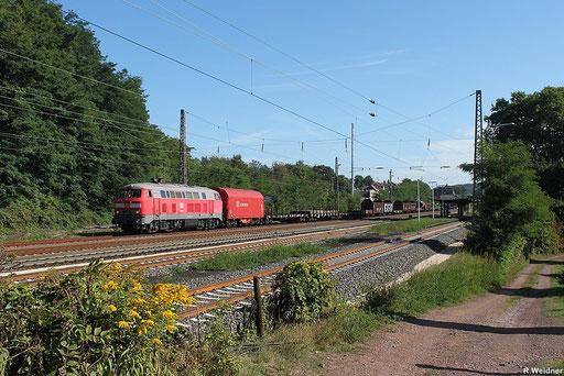 225 809 mit SW 62471 Einsiedlerhof - Dillingen(Saar), ausser den vier Bremswagen am Anfang und am Schluss des Zuges sind der Rest auf der letzten Fahrt bevor es zur Verschrottung geht, Dudweiler 16.09.2012