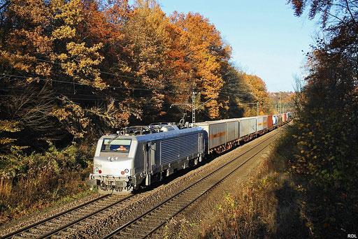 """herbstliches Deutschmühlental, AKIEM """"PRIMA"""" BB37013 mit DGS 42226 Ludwigshafen (Rhein) BASF Ubf - Lyon-Guillotiere, Saarbrücken 13.11.2012"""