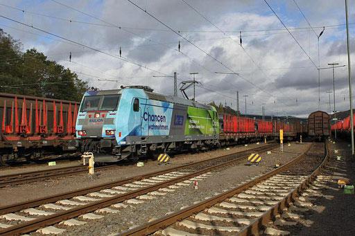 """185 152 """"K+S"""" mit GM 62460 Saarbrücken Rbf - Salzgitter-Beddingen, beladen mit Produkten der saarländischen Stahlindustrie , Saarbrücken Rbf West 02.11.2012"""