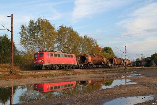 herbstlicher Sonntagabend im Saarland, 139 311 mit GM 61833 Völklingen - Dillingen Hochofen Hütte bei Bous 07.10.2012