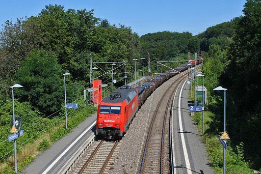 """eine der letzten zwei 152er mit dies Beschriftungsvariante ist die 089 (andere 152 098), hier mit """"Umleiter-Übergabe"""" EK 55884 am Hp Fischbach Campausen 11.08.2012"""