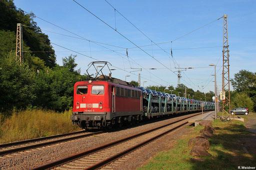 """""""Cobelfret-Fordzug"""" aus dem Saarlouiser Ford-Werk zu der niederländische Hafenstadt Vlissingen am Hp Beckingen, 140 833 wird GA 47730 bis Venlo bringen, 17.08.2012"""