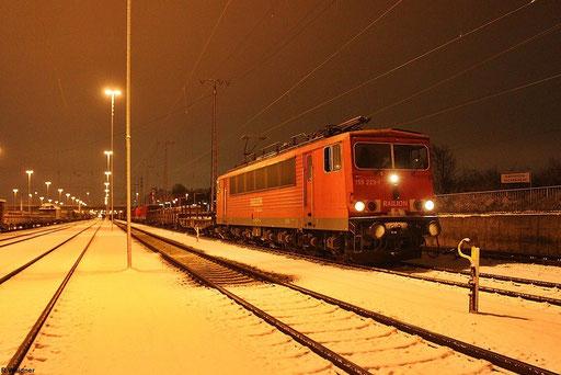 155 223 angekommen mit EZ 52813 Saarbrücken Rbf Ost - Mannheim Rbf Gr M , am 07.12.2012 ,  im zweitgrößten Rangierbahnhofs  Deutschland